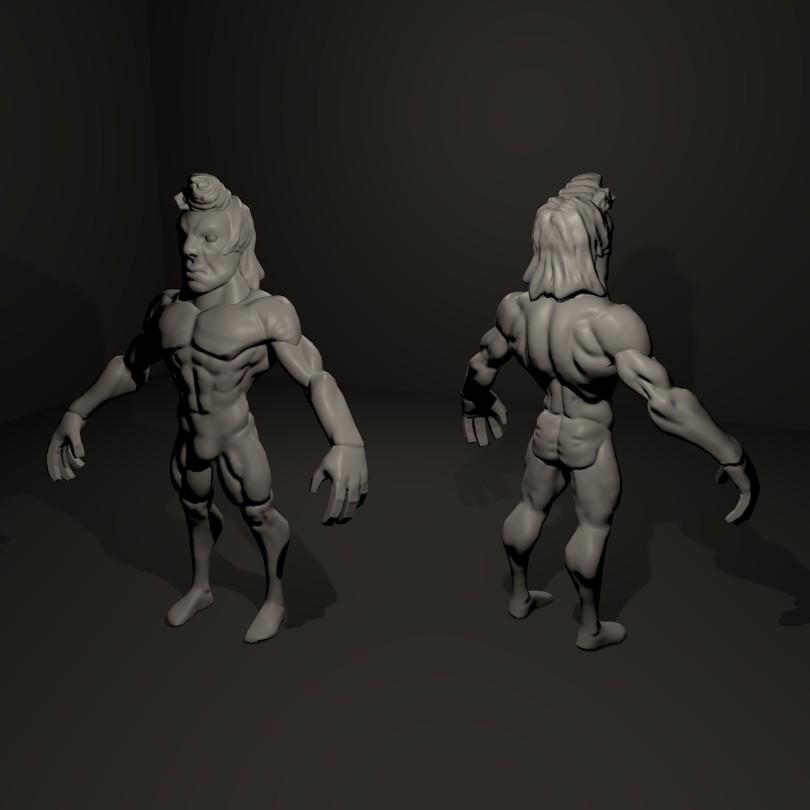 G-Man Low Poly | Качаю скульптурный мускул