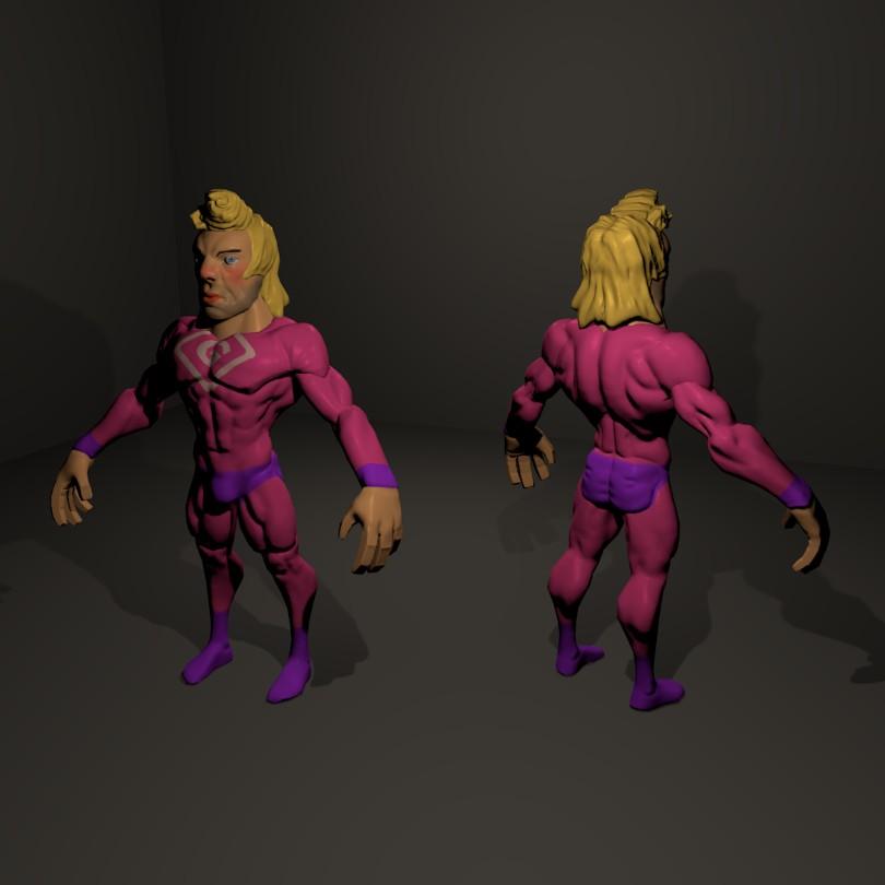 G-Man Low Poly Color | Качаю скульптурный мускул