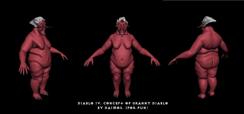 Granny Diablo | Качаю скульптурный мускул