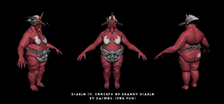 Granny Diablo (Armored) | Качаю скульптурный мускул