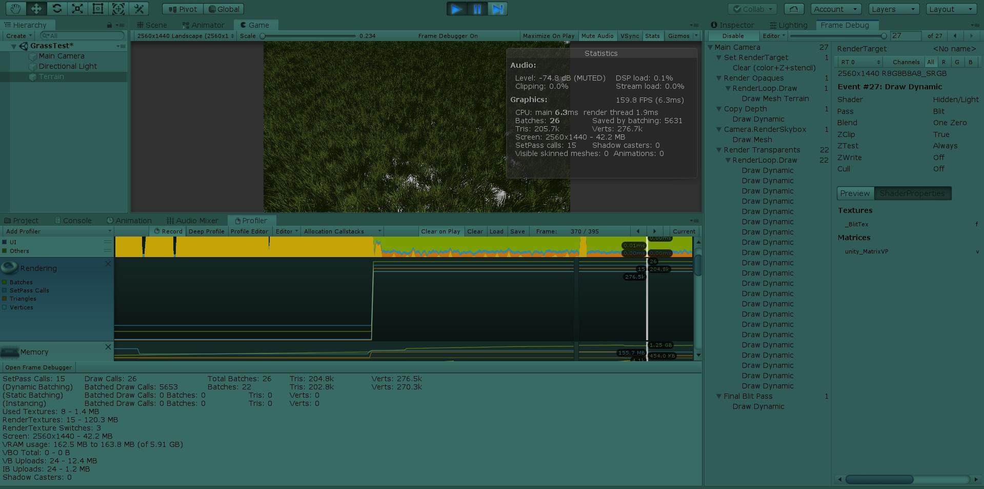 Grass batching | Unity3D grass: проблемы с производительностью