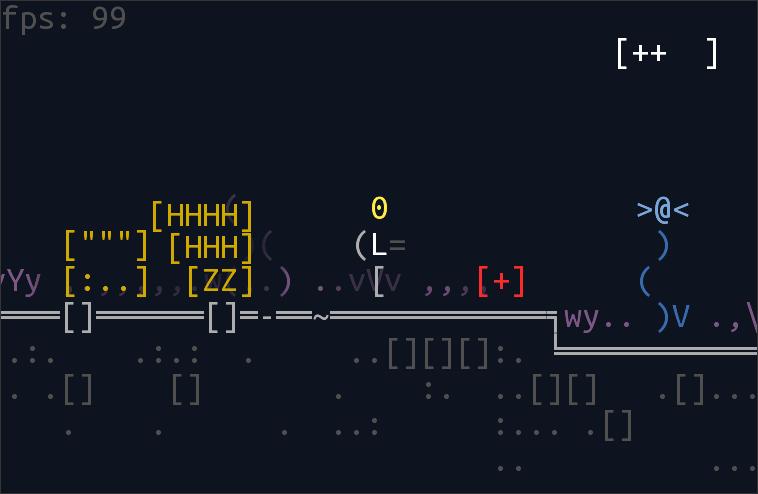 heal   Unsigned Character  0.6.0 [ASCII-платформер с процедурной генерацией]