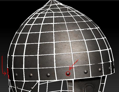 Helmet_Wireframe | 3D модель ратника.