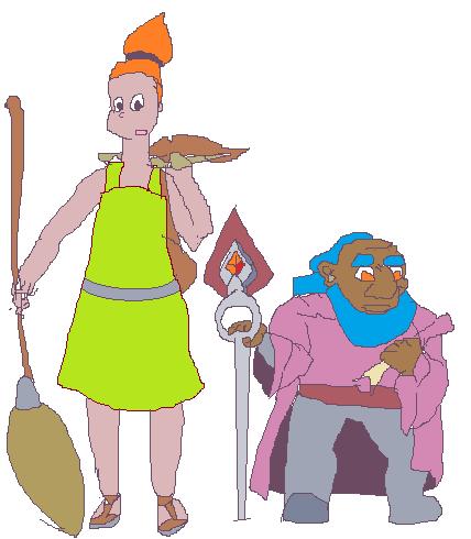 Набросок персонажей |