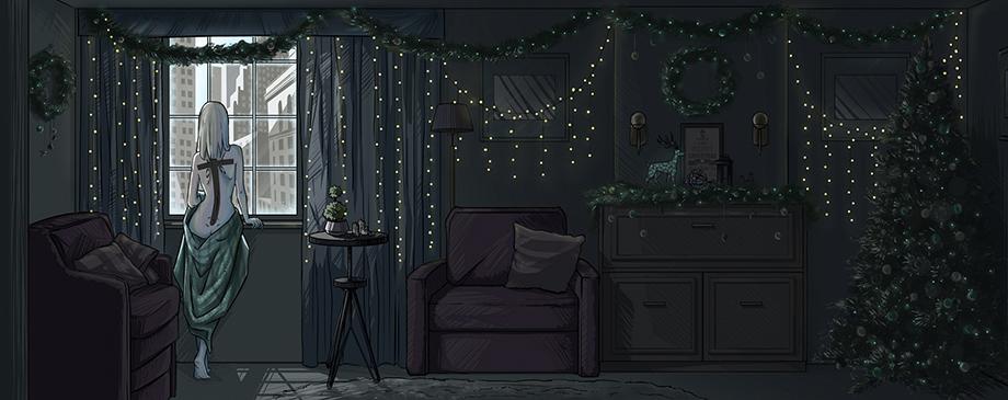 холодный урожай девушка и окно | Холодный урожай