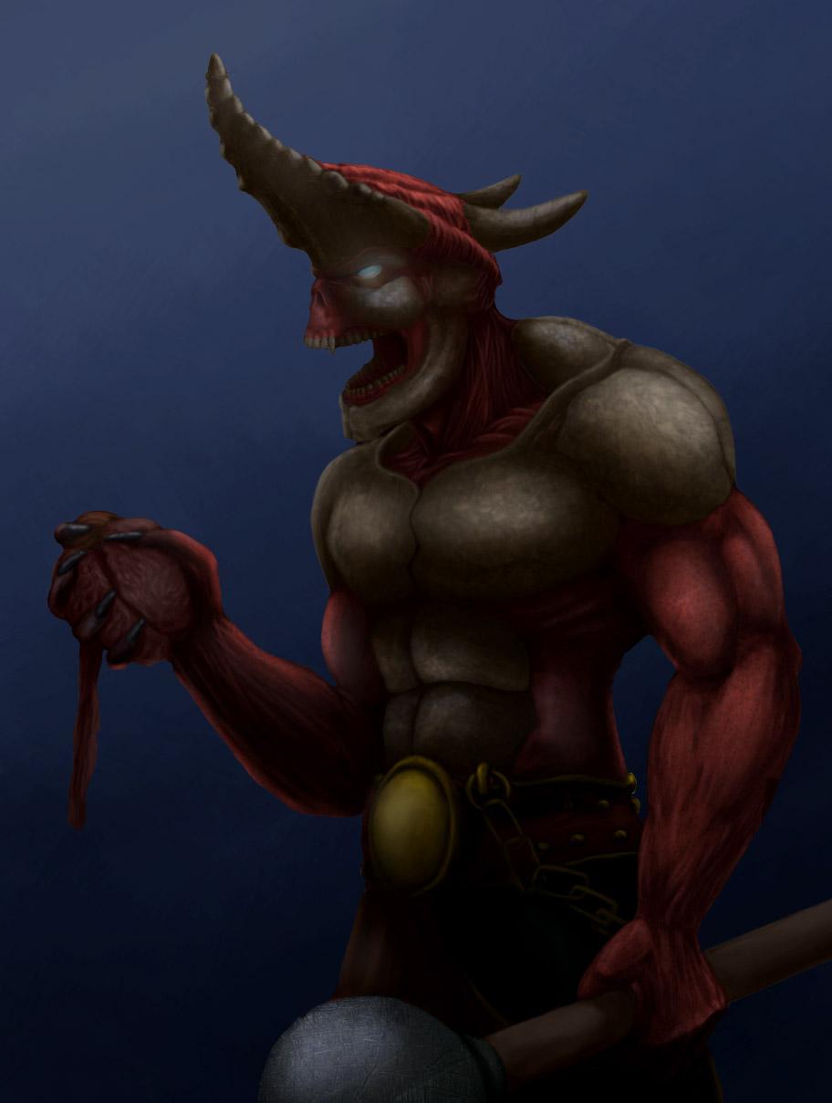 horn-headed | Bimeni каля-маля