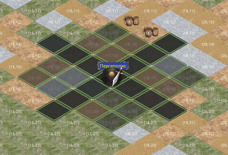 дубликат   Поиск пути на шахматной Iso карте