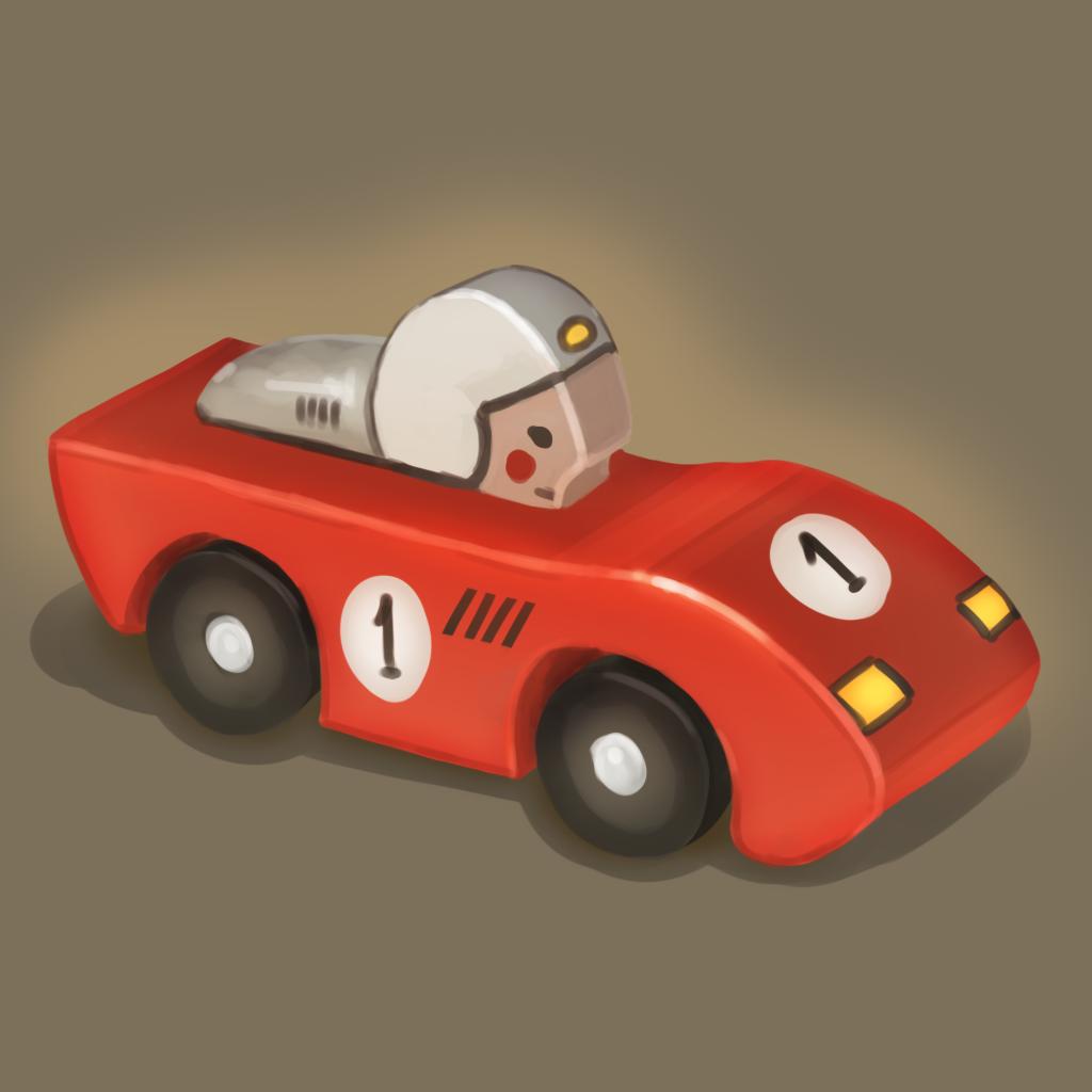Игрушечная машинка | 2D CG, нужна критика и советы.