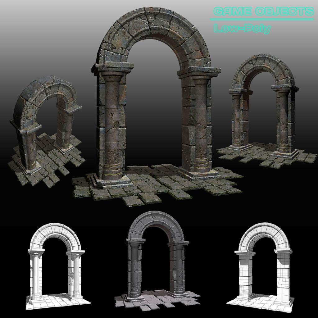 Arch Portal | 3d Environment Artist - 3d окружение для игр