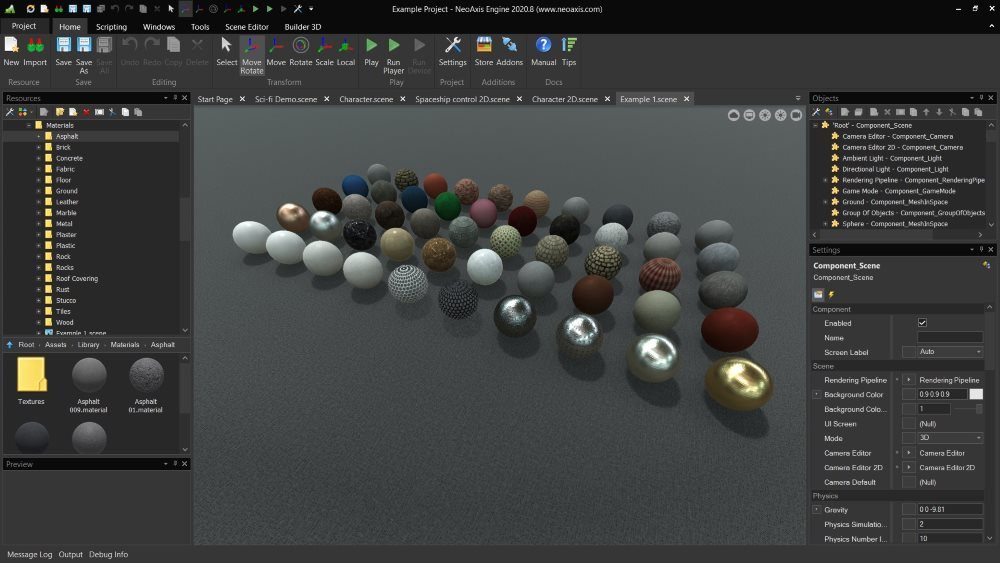 NeoAxis Asset Store Materials   Вышел NeoAxis Engine 2021.3