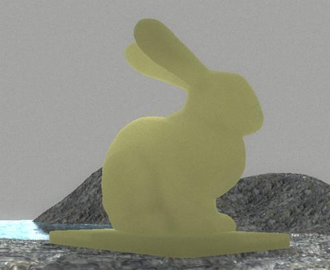 Subsurface scatterings: Нефритовый заяц, пропускающий свет | Моделирование подповерхностного рассеивания