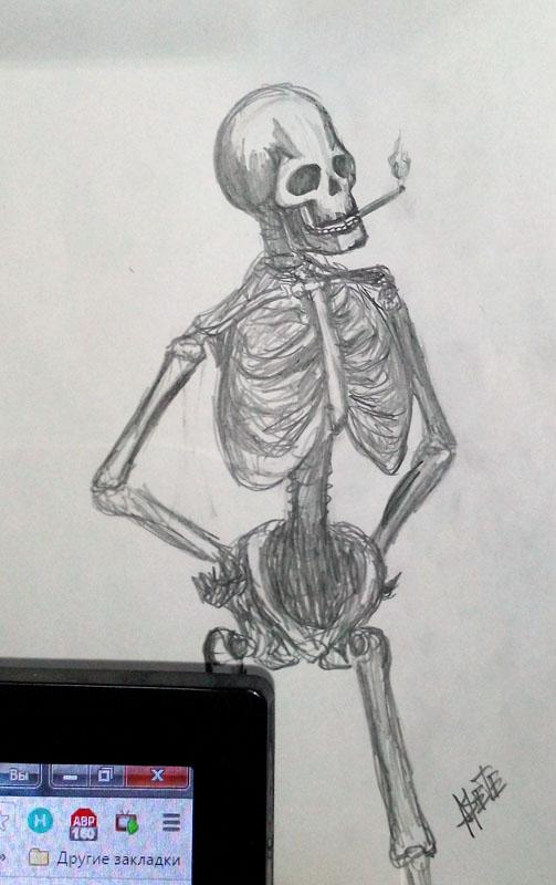 Скелет скетч | Учимся рисовать, прогресс ли?