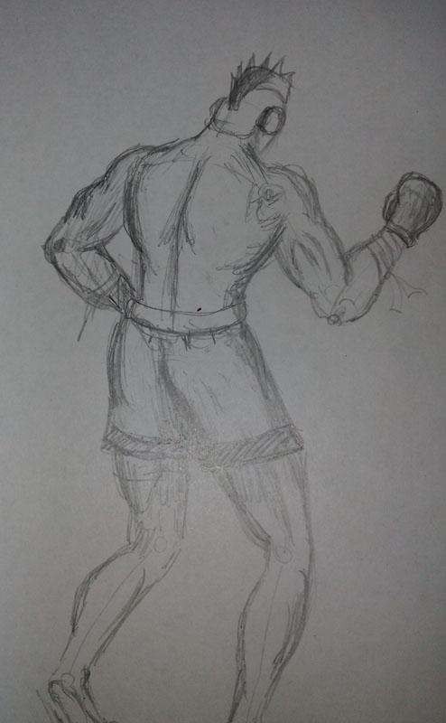 Бокс | Учимся рисовать, прогресс ли?