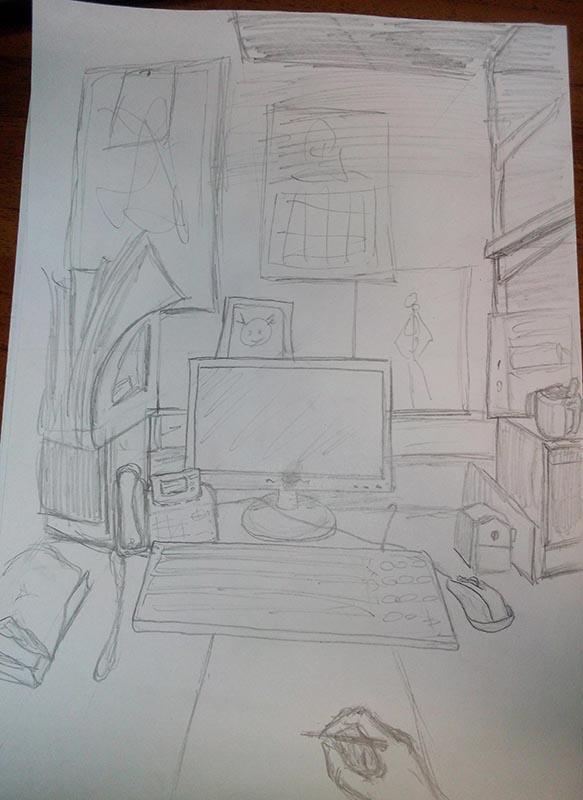 Перспектива рабочего стола | Учимся рисовать, прогресс ли?