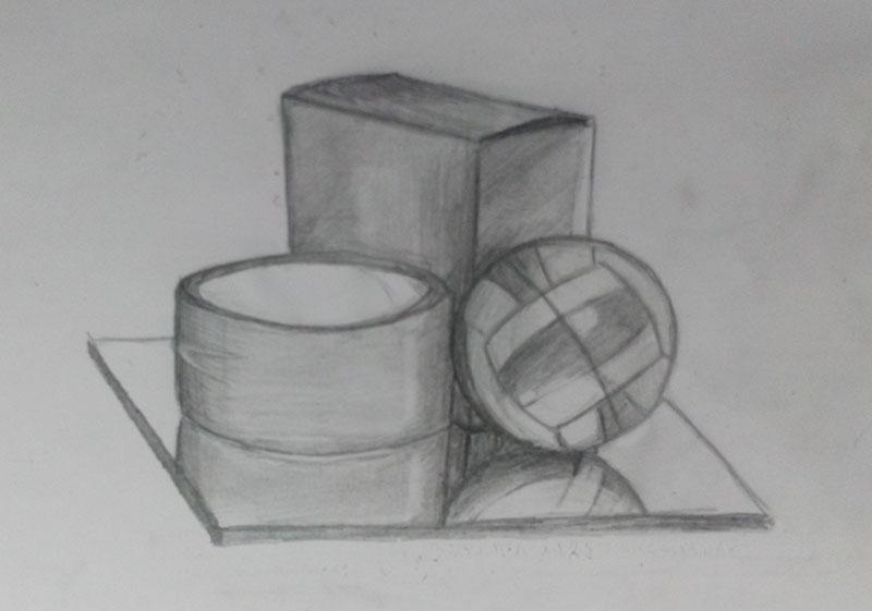 Из того что было под рукой | Учимся рисовать, прогресс ли?