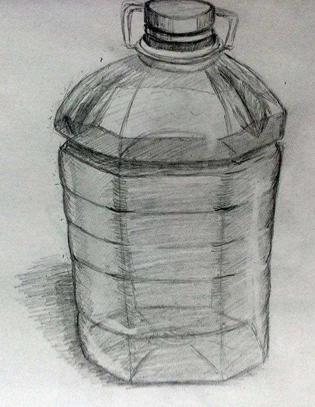 Бутылка | Учимся рисовать, прогресс ли?