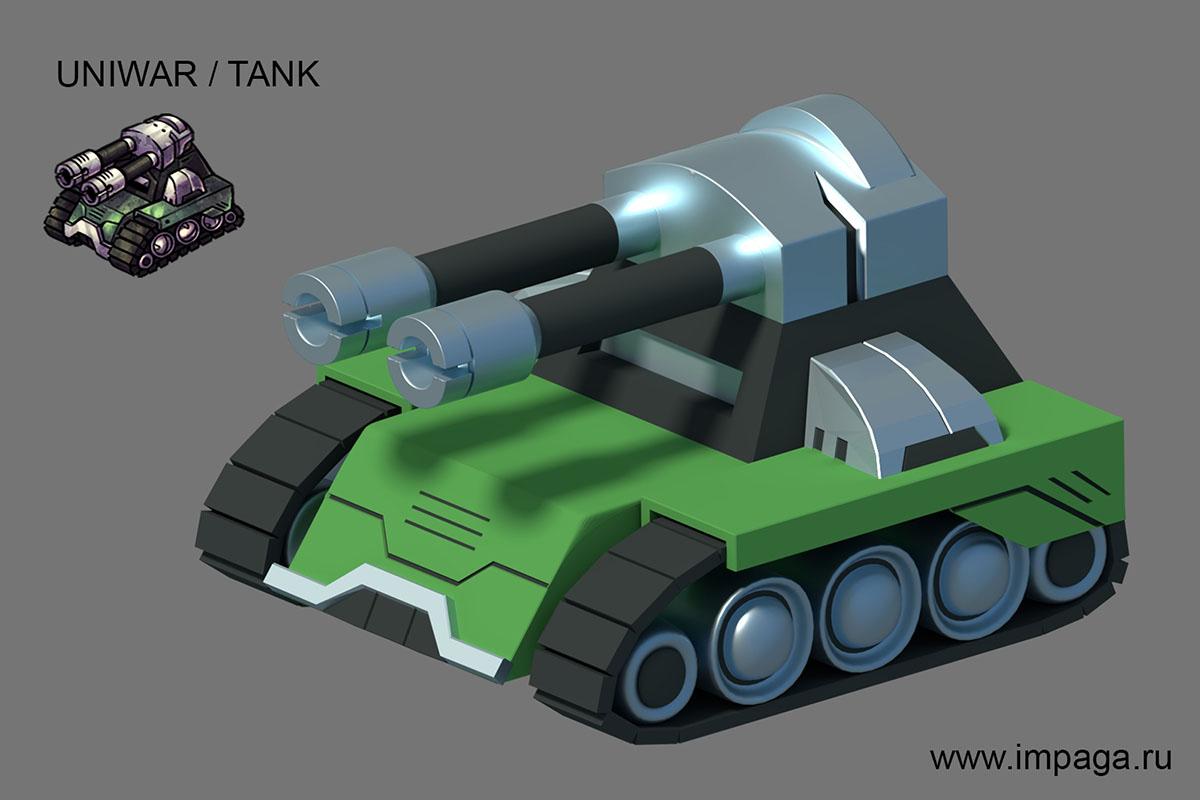 Uniwar / Tank | Uniwar в 3D