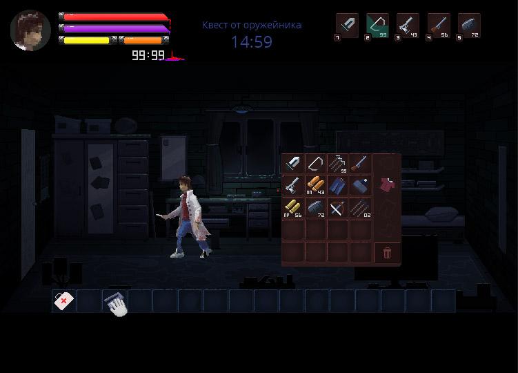 interface1   В команду по созданию игры в жанре Survival horror требуются 2D художник аниматор.(Энтузиазм)