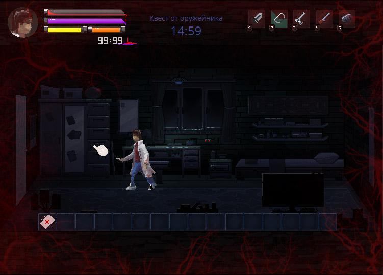 interface2   В команду по созданию игры в жанре Survival horror требуются 2D художник аниматор.(Энтузиазм)