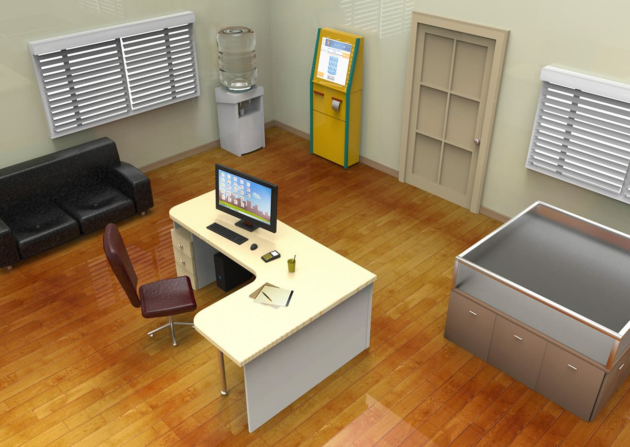 isometric office-min | VFX ролики / Катсцены / Анимация / 2D-3D