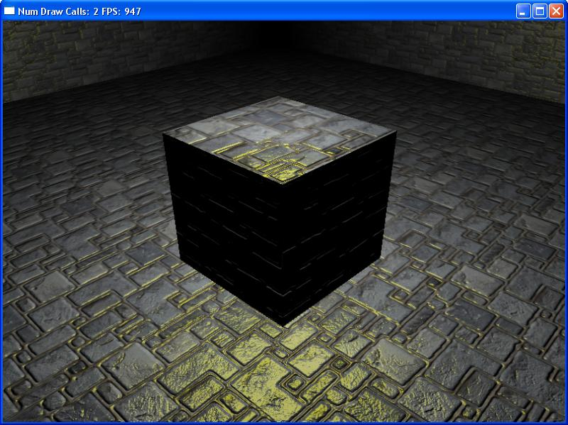 Источник света над кубом