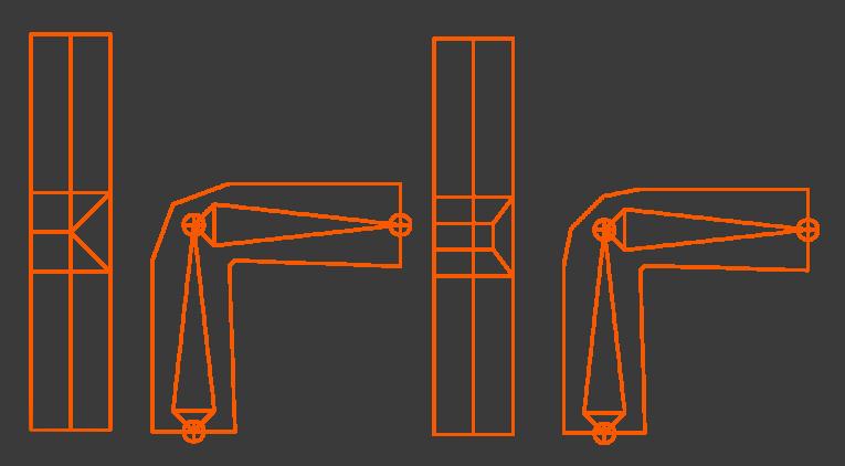 Топология сустава для треугольников и квадов. | Конкурс концепт-арта от студии Allods Team