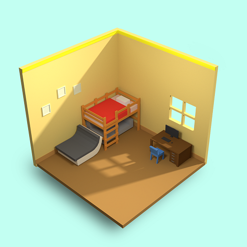 3д комната