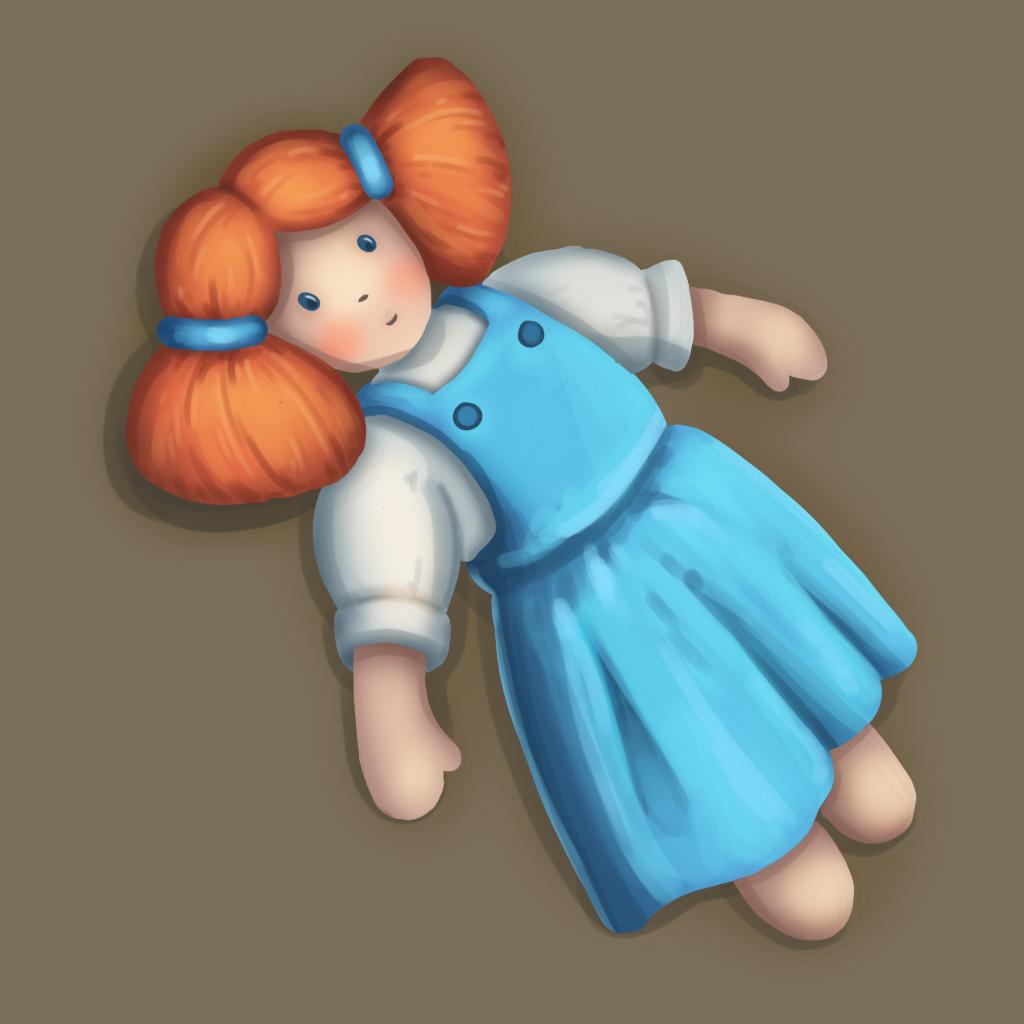 Кукла 3 | 2D CG, нужна критика и советы.