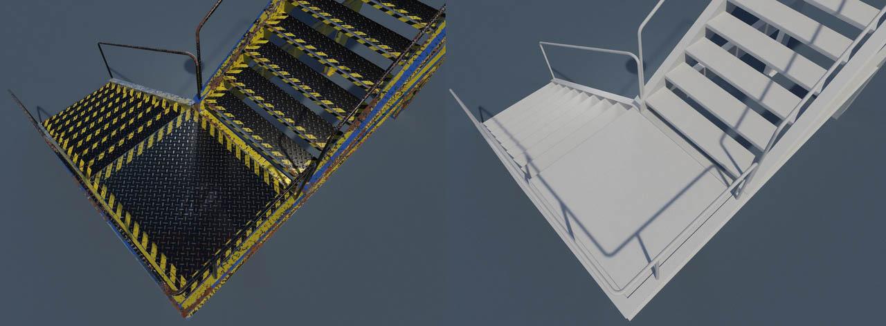 ladder1 | 3d Environment, Props Artist. H\M\L poly. Classic, Tile, PBR. UV. Realistic\Casual, Render 2D.