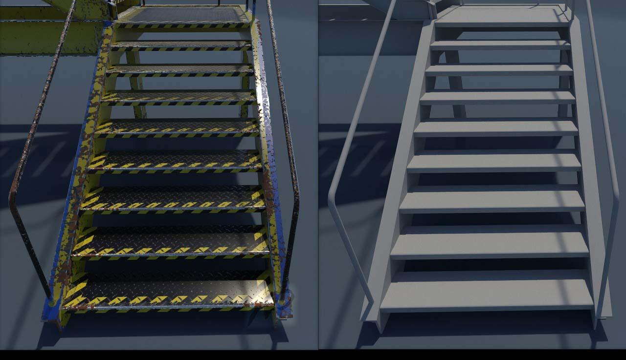 ladder f | 3d Heads, Props Artist. Realistiс, Render 2D.