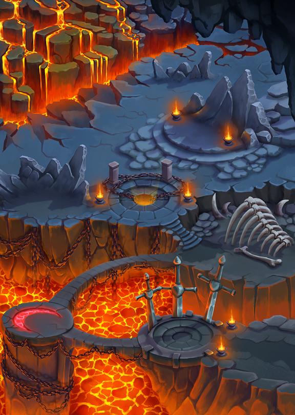 Lava-Map | [2D] Художник (environment, локации, карты, пропсы)