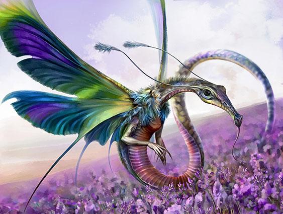 лавандовый дракон | 2D Artist |концепт , иллюстрации , локации