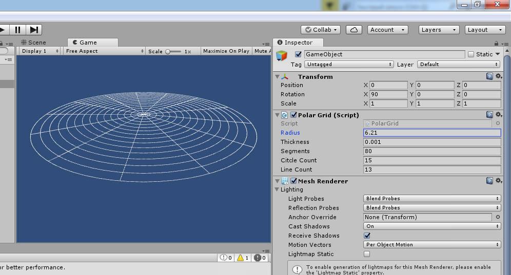 line_render | [Unity3D] Делаю свой фреймворк для рисования линий.
