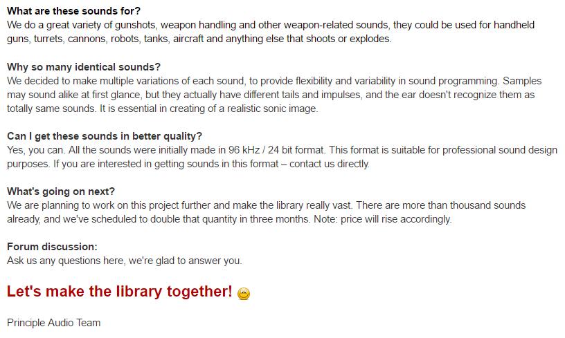 mini_faq | [Звуковая библиотека] Sci-Fi Weapons -- в помощь инди разработчикам