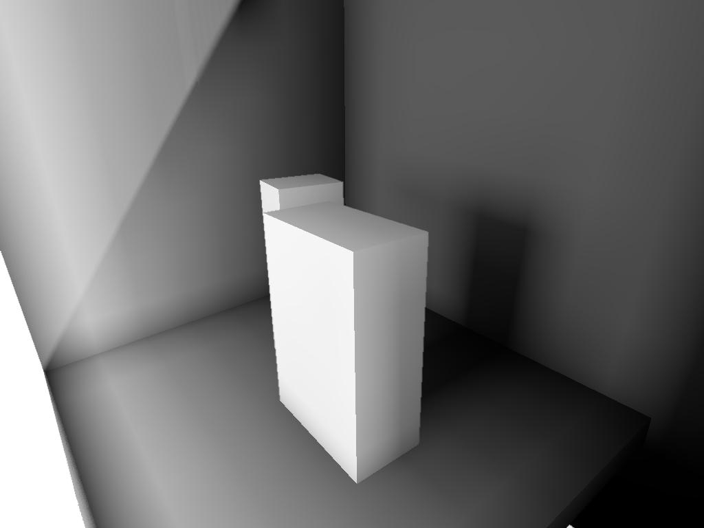Тень от дальнего ящика отсутствует | Объемы распространения света для непрямого освещения в режиме реального времени.
