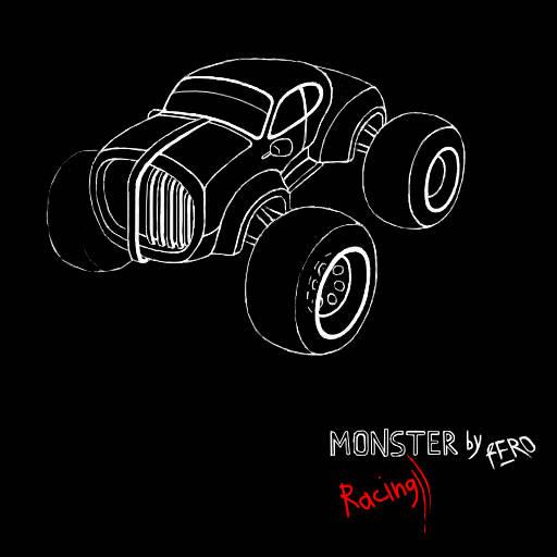 Cartoon Race - Monster 3D View Concept