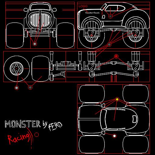 Cartoon Race - Monster Draw
