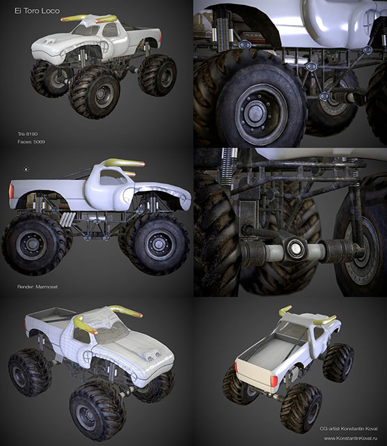 MonsterTruck | 3D моделлер HI-LOW poly