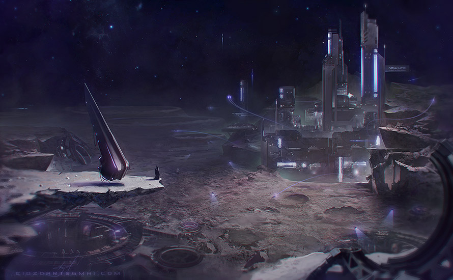 Moon colonisation | ◄2D художник/2D artist/Concept artist►[Sci-fi, fantasy, средневековье, post-apocalyptic и т.д.]