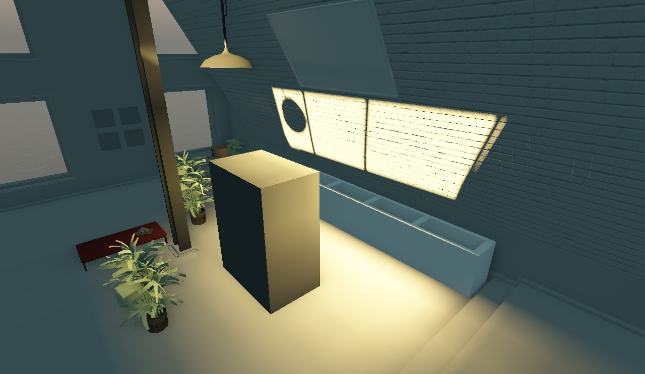 Непрямое освещение без учёта затенения | Объемы распространения света для непрямого освещения в режиме реального времени.