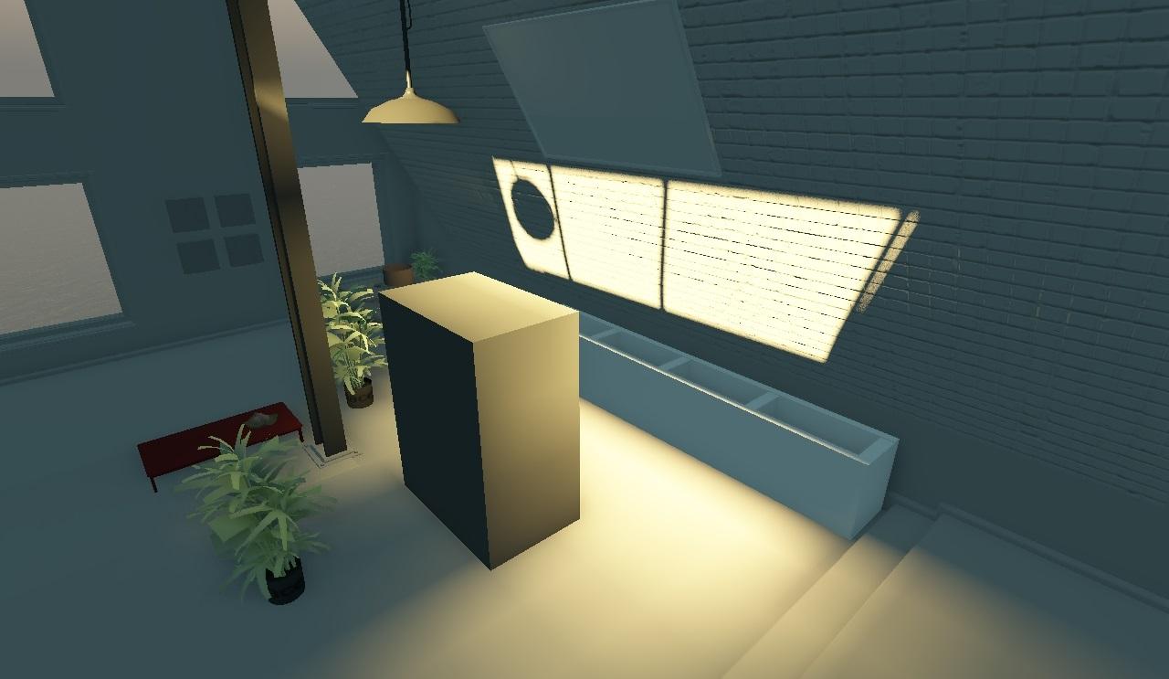 Непрямое освещение с учётом затенения | Объемы распространения света для непрямого освещения в режиме реального времени.