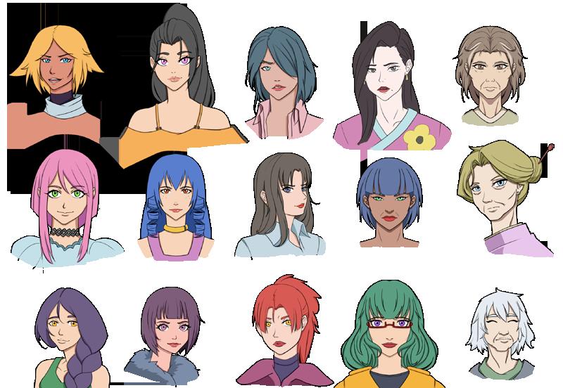 Набор женских персонажей 1 - 800 | Deathbring World: Rangers - [постапокалиптическая JRpg c пошаговыми боями и коллекционированием монстров] а ля Fallout + Pokemon Blue.