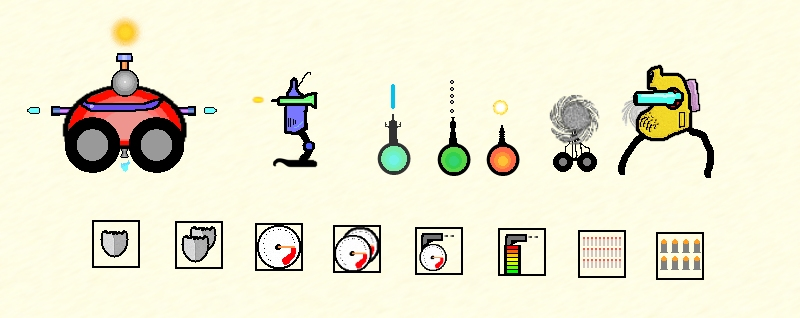 Наброски 3 | Shoot'em up - Кибермобилус (на конкурс Shoot'em up. Версия от 19 декабря)
