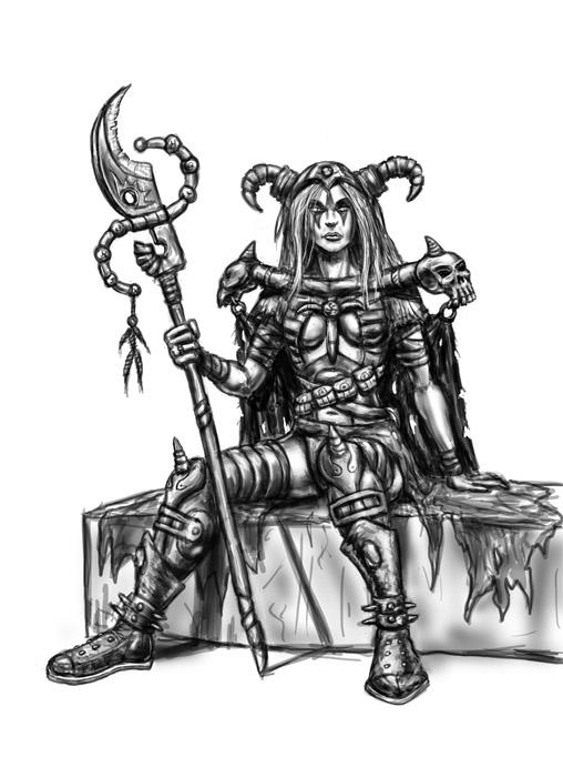 necro scetch3 | Любой игровой арт: скетчи игровых объектов и персонажей, интрефейсы, беки и т.д. (примеры внутри)