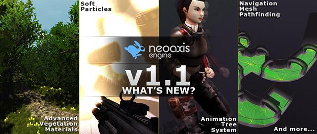 NeoAxis 1.1 Banner | Игровой движок NeoAxis обновился до версии 1.1