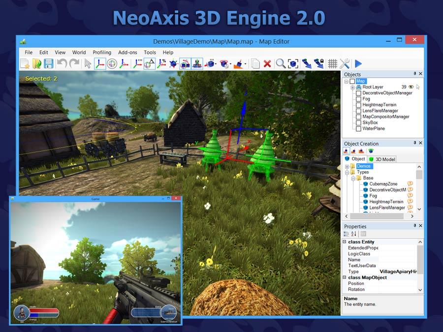 NeoAxis 3D Engine 2.0 | Анонсирован NeoAxis 3D Engine 2.0. Теперь с бесплатной редакцией