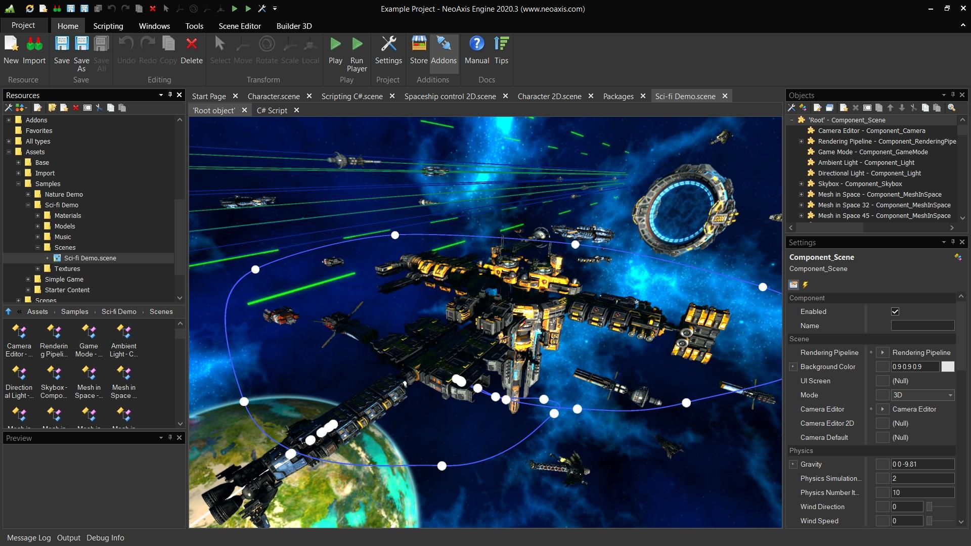 NeoAxis Engine Sci-fi Demo | NeoAxis Engine, 3D/2D игровой движок, теперь Open Source