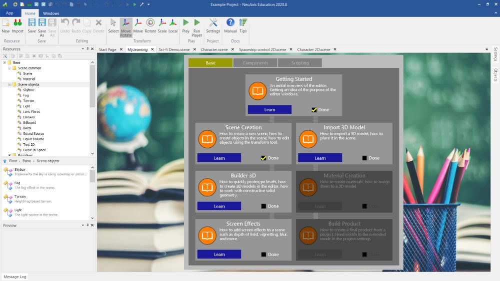 NeoAxis Education   Вышел NeoAxis Engine 2021.3
