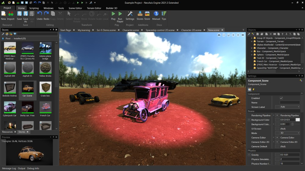 NeoAxis Engine 2021.3 | Вышел NeoAxis Engine 2021.3