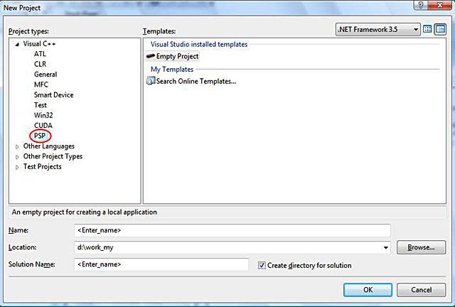 NewProject_Psp | Hello World приложение для Sony PSP